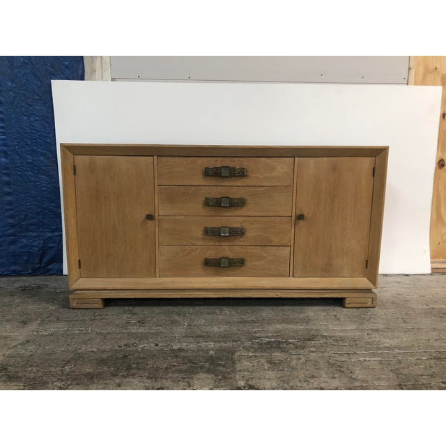 Grosfeld House Mid Century Asian Chinoiserie Solid Wood Credenza Buffet For Sale - Image 10 of 11