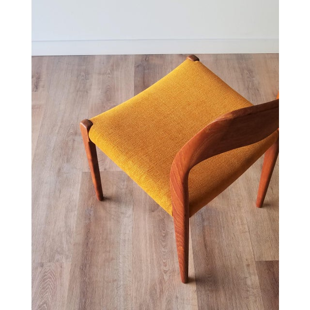 Newly Upholstered 1960s Niels Moller Model 71 Dining Chairs - Set of 6 For Sale In Seattle - Image 6 of 13