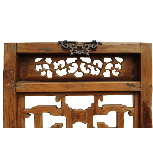 Chinese Vintage Light Brown Relief Motif Wood Wall Hanging Art For Sale - Image 10 of 11
