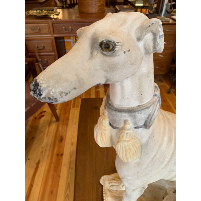 1950s 1950s Vintage Italian Whippet Statue For Sale - Image 5 of 10