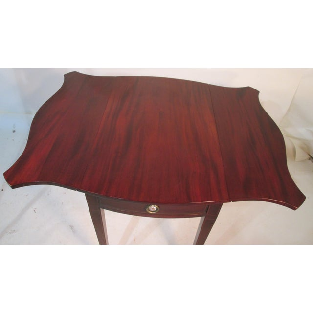Wood Mahogany Pembroke Tables - A Pair For Sale - Image 7 of 11
