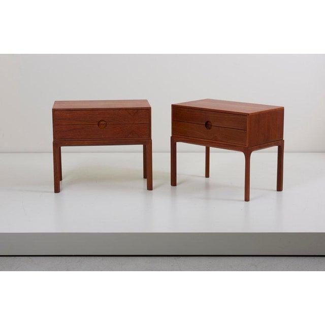 Pair of Teak Nightstands by Aksel Kjersgaard for Odder, Denmark, 1955 For Sale - Image 6 of 11