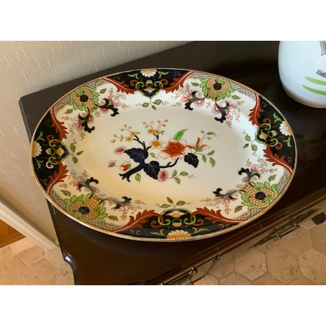 Early 20th Century English Royal Doulton Matsumai Hand Painted Serving Platter For Sale - Image 11 of 11