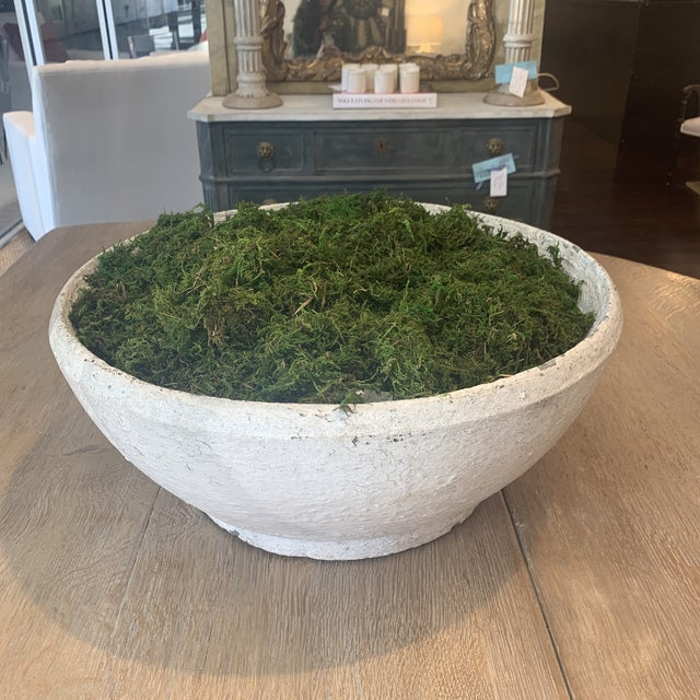 Vintage Concrete Bowl For Sale - Image 9 of 13