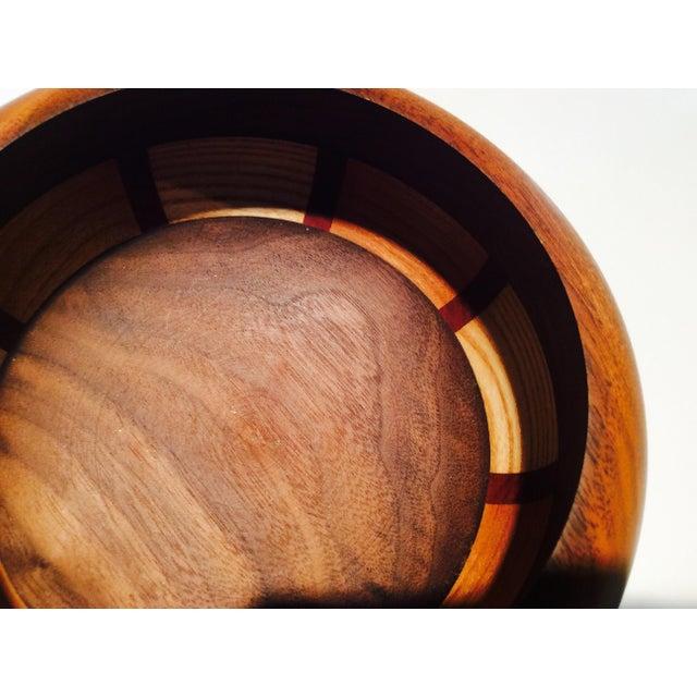 Mid-Century Style Wood Bowl - Image 4 of 9