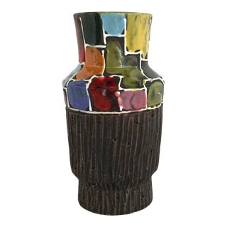 1960s Fratelli Fanciullacci Mosaic Design Pottery Vase For Sale