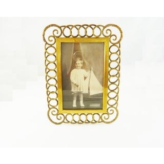 Antique English Brass Ring Picture Frame Preview