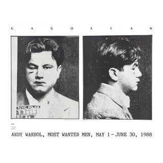 Andy Warhol, Most Wanted Men, No. 2 John Victor, 1988, Offset Lithograph For Sale