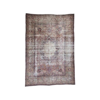 Antique Kerman Carpet With Wear (Dk-116-8) For Sale