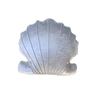 Custom Seashell Pillow Made of Faux Leather by Scalamandre For Sale