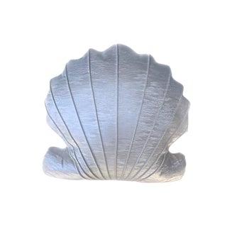 Custom Vegan Leather Scalamandre Fabric Seashell Accent Pillow