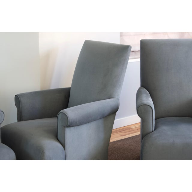 Donghia Club Chairs Set 2 For Sale - Image 11 of 13