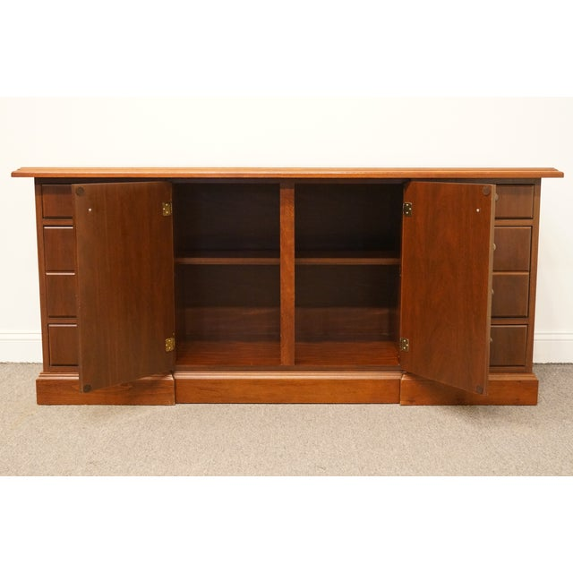 20th Century Traditional Miller Desk Solid Cherry Executive Office Credenza For Sale - Image 4 of 13