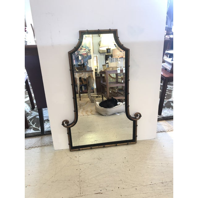 Pagoda Style Bronze Patina and Black Mirror For Sale In Philadelphia - Image 6 of 7