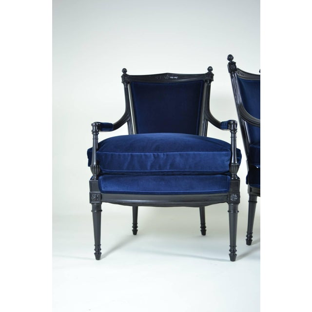 Pair of Directoire Style Fauteuil Chairs For Sale - Image 4 of 10