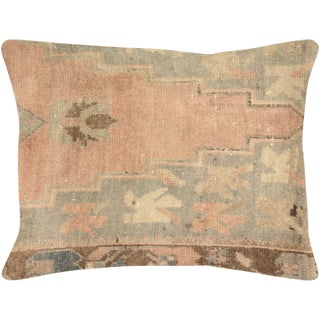 """Nalbandian - 1960s Turkish Oushak Lumbar Pillow - 17"""" X 23"""" For Sale"""