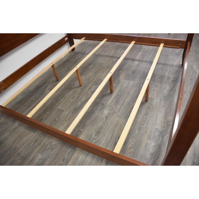 Wood Ethan Allen American Impressions Solid Cherry King Bed For Sale - Image 7 of 10