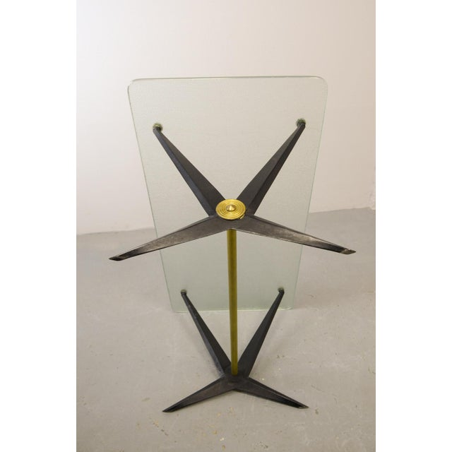 Gold Mid-Century Italian Design Side Table Designed by Angelo Ostuni, Italy, 1950s For Sale - Image 8 of 11