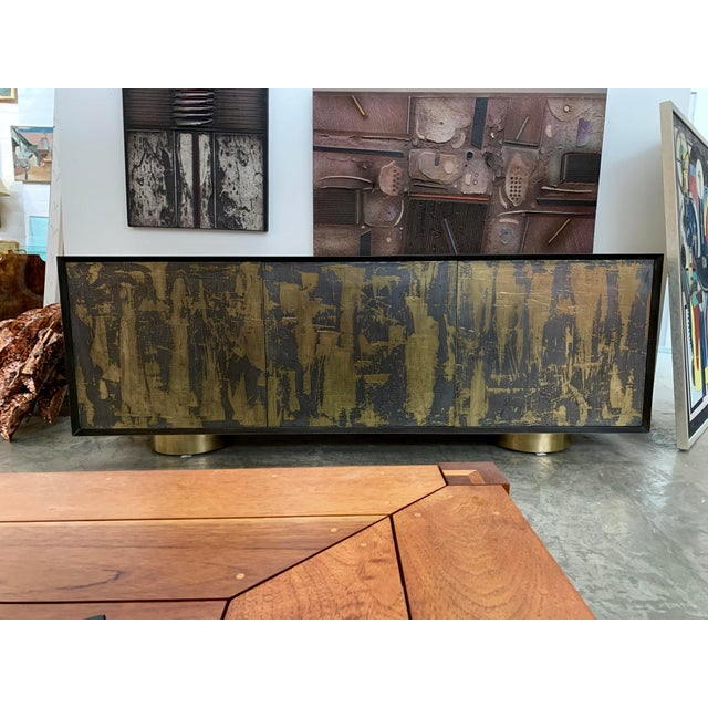 Bridges Over Time Originals Brass and Iron Sculpted Credenza For Sale - Image 11 of 11