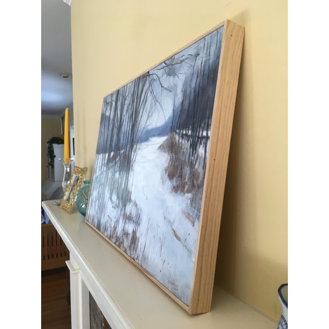 "White Stephen Remick ""River, Road, Field, Mountain"" Contemporary Landscape Painting For Sale - Image 8 of 10"