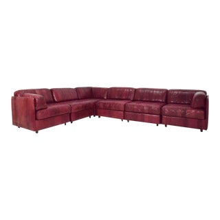 De Sede Style Leather Cubo Sectional