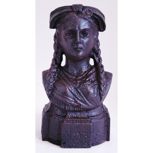 19th Century French Iron Lady Bust Fragment - Image 2 of 9
