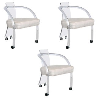 Group of Three Lucite Armchairs, Wycombe-Meyer, Circa 1975 For Sale