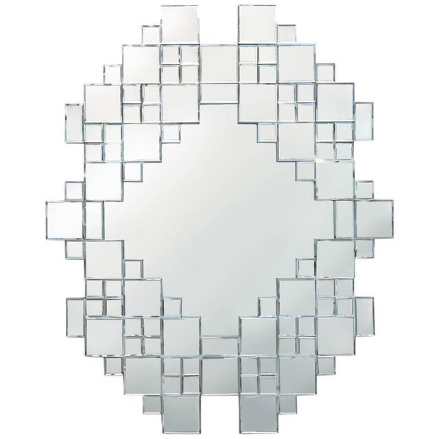 1970s Cubist 1970s Mirror For Sale - Image 5 of 5