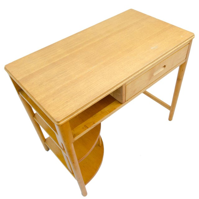Yellow Mid-Century Hill-Rom Maple Desk For Sale - Image 8 of 8