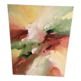 Image of Spring Green Contemporary Abstract Painting For Sale
