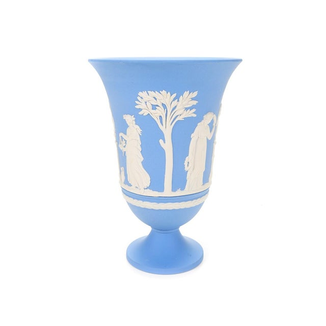 Incredible Wedgwood Jasperware Blue Neoclassical Vase Decaso