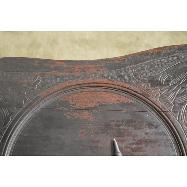 Brown Italian Renaissance Antique Phoenix Carved Walnut Hall Chair For Sale - Image 8 of 13