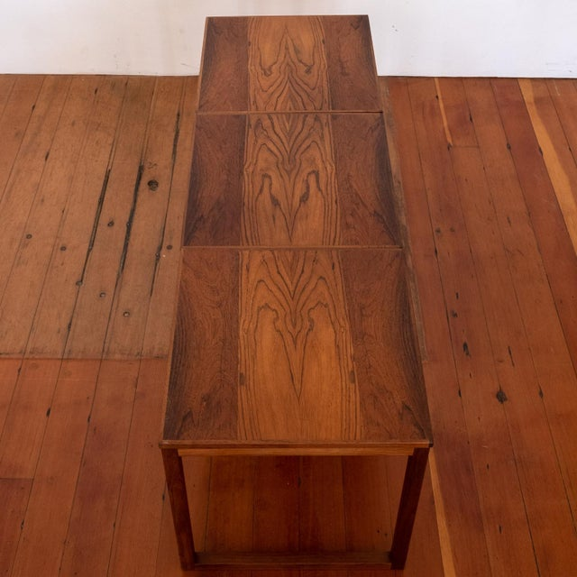 Rosewood Kai Kristiansen Nesting Cube Tables For Sale - Image 9 of 12