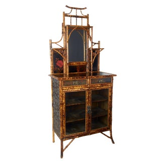 19th Century Japonisme Bamboo Side Cabinet For Sale