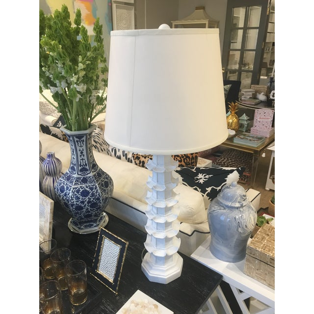 Bungalow 5 White Brighton Pagoda Table Lamp For Sale - Image 4 of 5