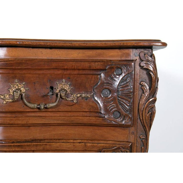 Bronze 18th Century Regency Period Lyonnaise Commode Galbée For Sale - Image 7 of 10