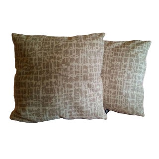 Pollack Wool Birch Bark Pillow Covers - A Pair For Sale