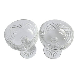 Waterford Lismore Essence Champagne Saucers - a Pair For Sale