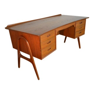 Svend Madsen Model Sh 180 Danish Modern Teak Writing Desk For Sale