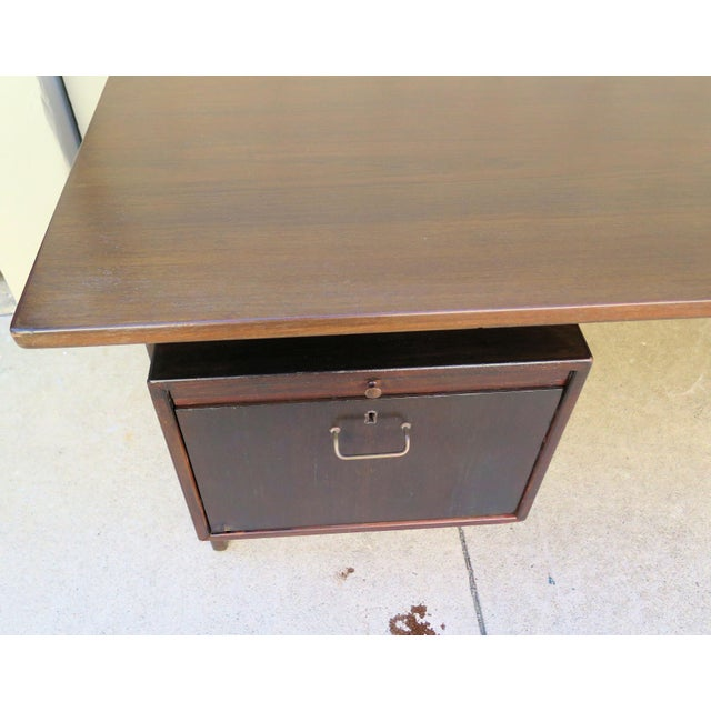 Danish Floating Top Executive Desk For Sale - Image 5 of 6
