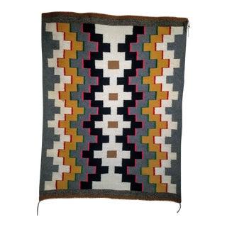 "Vintage Navajo Rug- 2' 9"" X 3' 7"" For Sale"