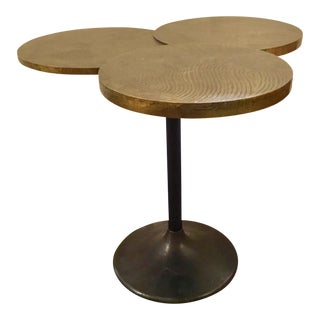 Arteriors Trefle Brass Clad and Iron Side Table For Sale