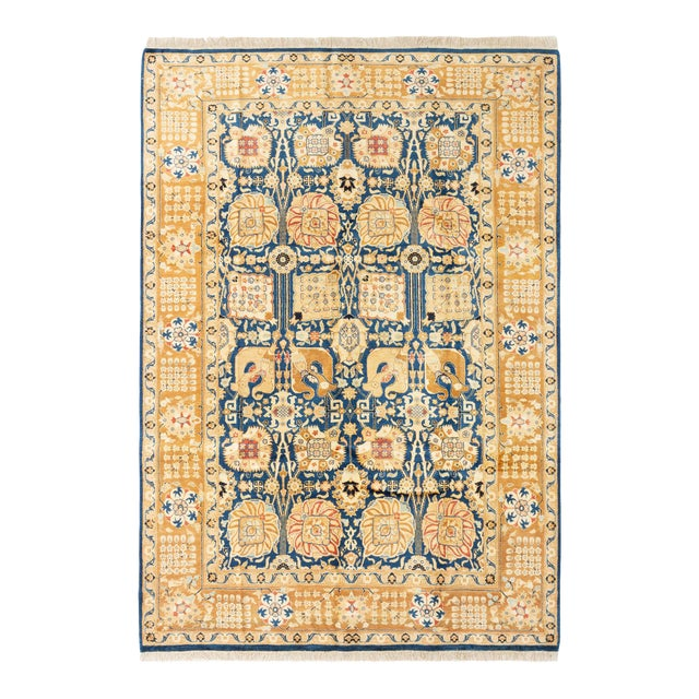 """Bohemian Hand-Knotted Rug, 6'0"""" X 8'7"""" For Sale"""