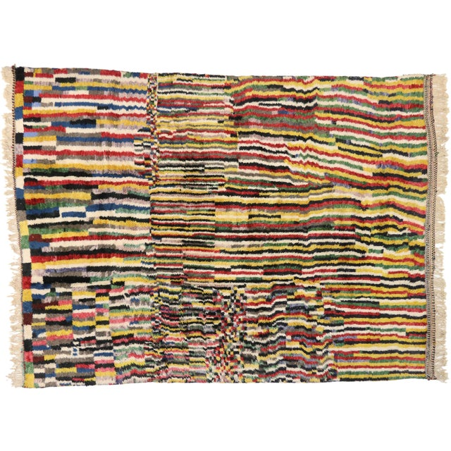 Textile Contemporary Berber Moroccan Rug - 9′2″ × 12′6″ For Sale - Image 7 of 7