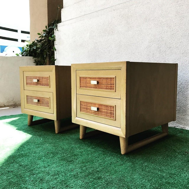 Grand Rapids Mid-Century 2 Drawer Nightstands - A Pair - Image 2 of 7