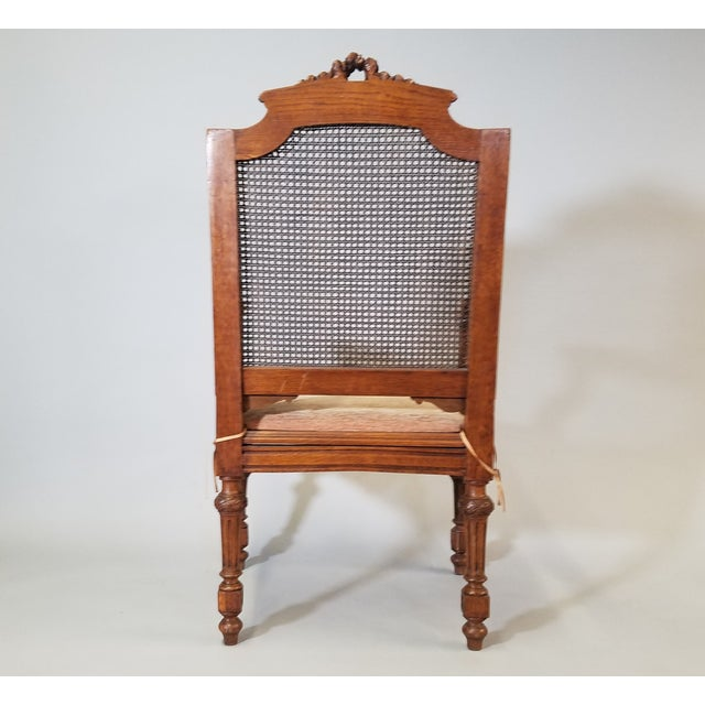 Circa 1910 Pair of French Louis XVI Style Armchairs For Sale - Image 4 of 13