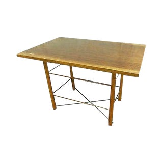 Custom Studio Made Walnut Table or Writing Desk For Sale