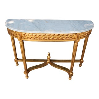 Late 20th Century Vintage French Demi-Lune Table For Sale