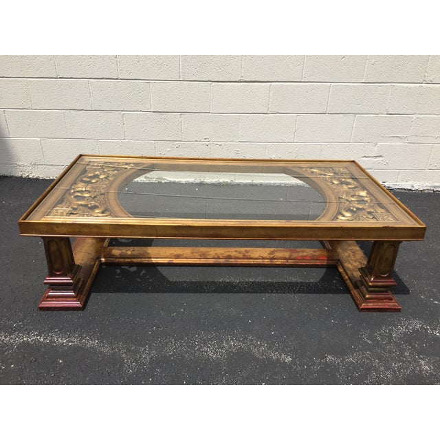Weiman Gilt Wood Chinoiserie Carved Coffee Table For Sale - Image 11 of 11