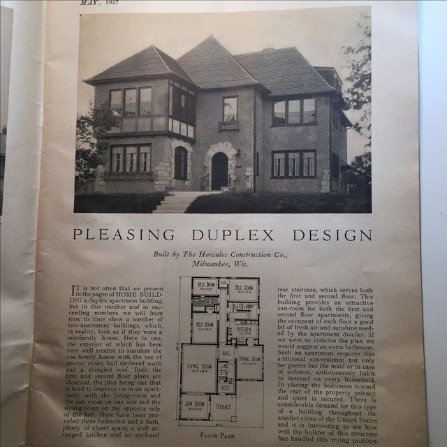 Home building 1927 chicago trade magazine chairish for Home building magazines